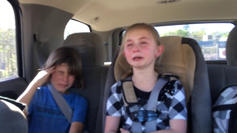 Little girl upset because her Big brother won't give her a hug and a kiss at school. Part 1
