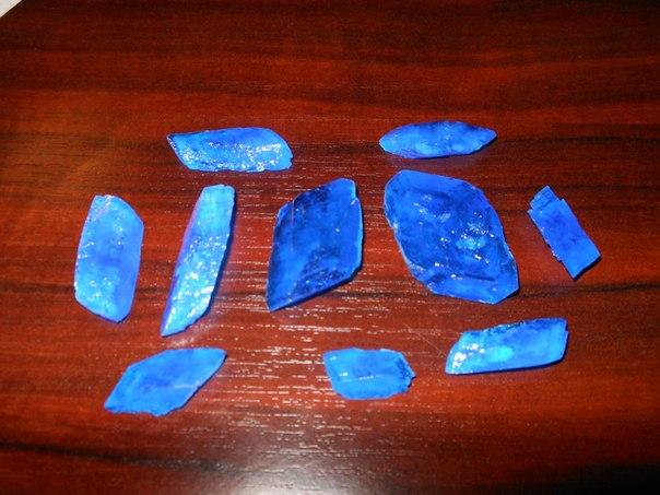 Сульфат меди, монокристаллы