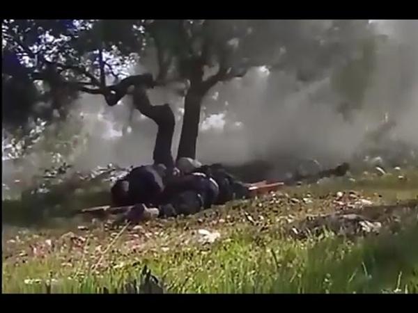 Syria War Syrian Rebels Pinned Down Under Heavy Machine Gun And Mortar Fire In Idlib