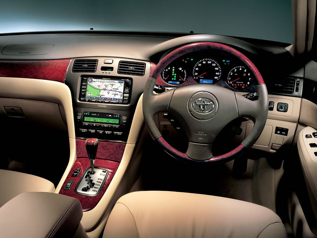 Beige leather Toyota Windom