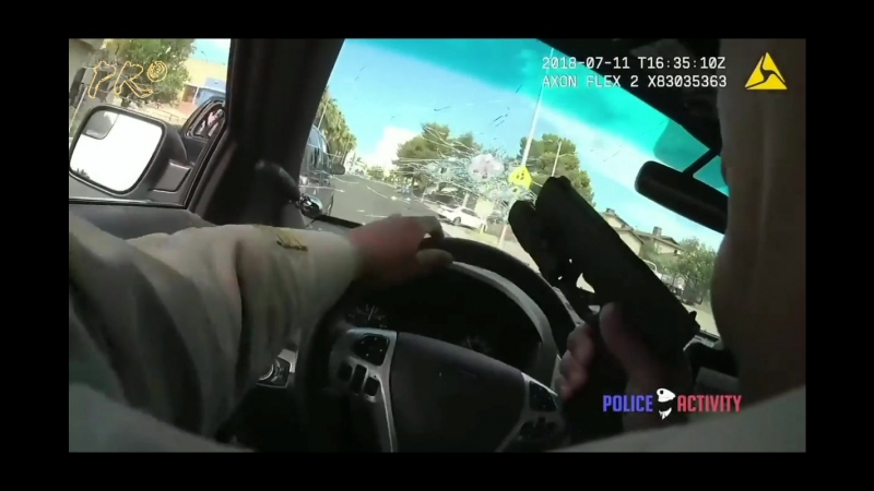 Полицейская погоня с перестрелкой в Лас-Вегасе