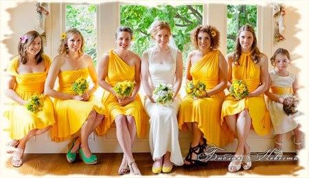 2014 фото желтые модные платья купить