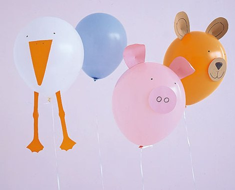 Воздушный шар один животные своими руками