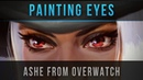 Painting Eyes - Ashe from Overwatch - Speedpainting