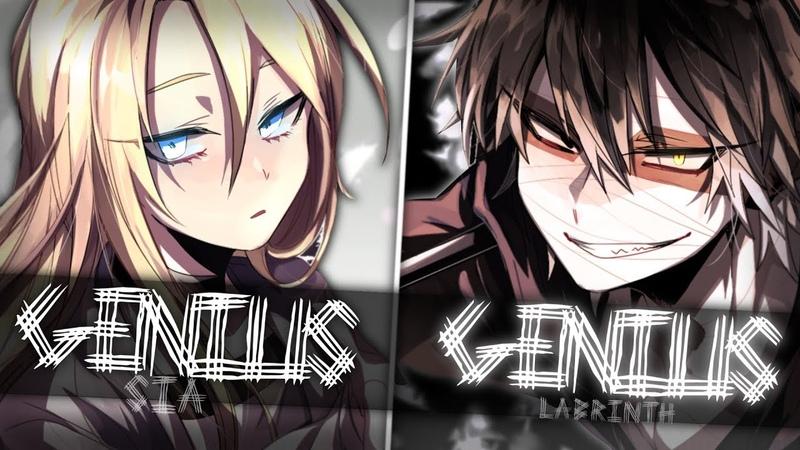 ◤Nightcore◢ ↬ Genius [Switching Vocals]