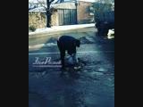Ростовчанин засыпал яму на Цезаря Куникова/Погодина - 21.11.18 - Это Ростов-на-Дону!