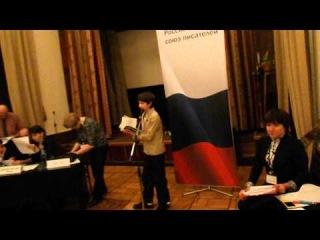 Олег Печерников читает свои стихи в ЦДЛ