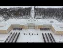 Зимний Петергоф Большой дворец Ольгин и Царицын павильоны с высоты Winter Peterhof