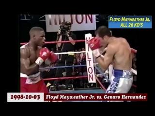 Все нокауты в карьере Флойда Мейвезера-младшего / Floyd Mayweather all KO