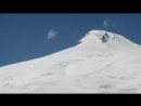 Вид с высоты 3200 метров над уровнем моря горы Эльбрус