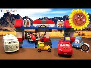 Lego Duplo, серия Тачки2 (Disney Pixar, Cars2) ПИТ-СТОП (5829). Наибольшее кол-во героев мультфильма