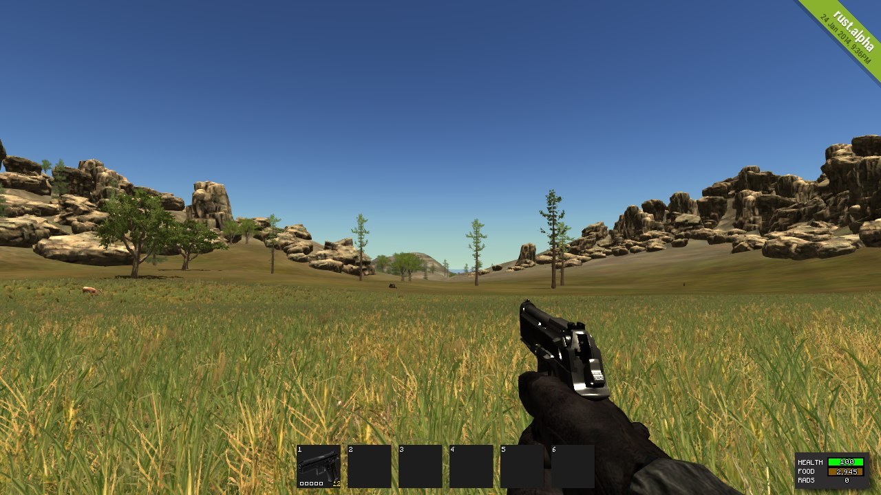 Как выглядит 9mm Pistol в Rust