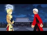 Gilgamesh Vs Archer - FateStay Night Stick Fight!