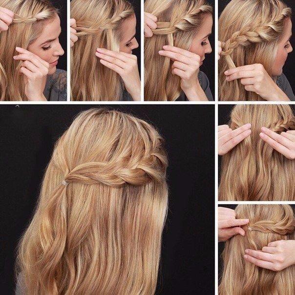 Несложные прически на длинные волосы на каждый день