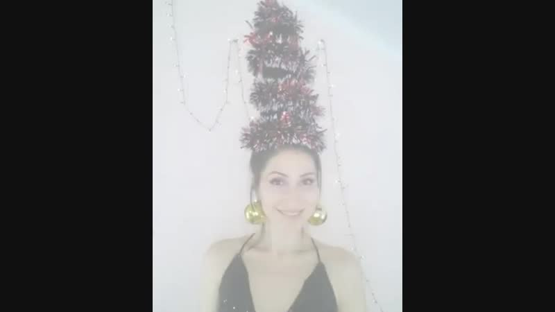 Новогодняя прическа и настроение от Наталии Наконечной!