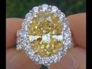 DIVORCE AUCTION GIA Certified 12 32 Carat Fancy Yellow Diamond Engagement Wedding Ring 18k Gold HD