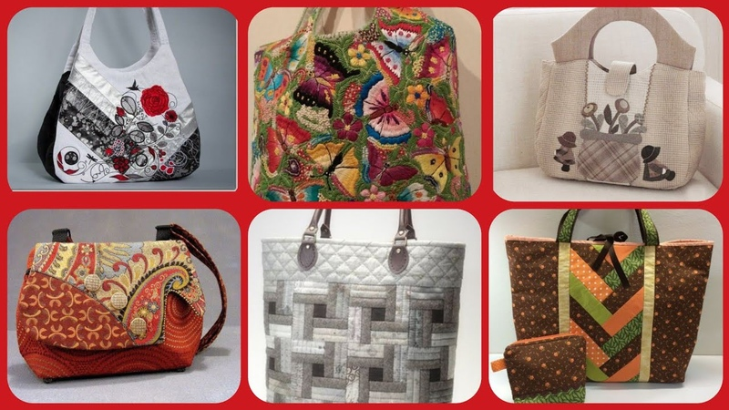 Beautiful latest stylish fabric handbag collection
