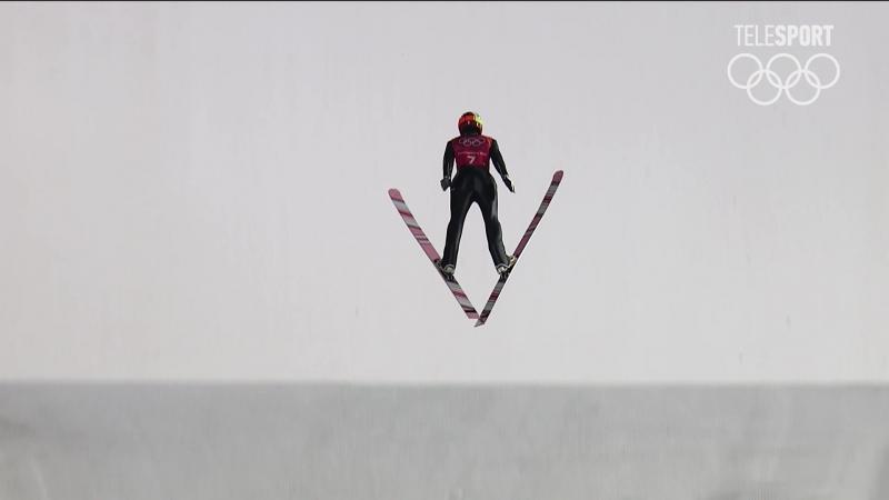 Прыжки на лыжах с трамплина. Мужчины. Большой трамплин LH команды. Финал (часть 1)