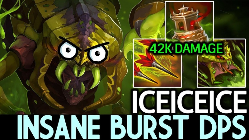 Iceiceice [Venomancer] Insane Burst DPS with Spirit Vessel 7.19 Dota 2