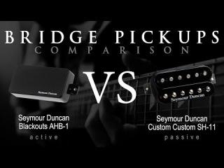 SEYMOUR DUNCAN SH11 TB11 vs BLACKOUTS - Active Passive Bridge Pickup Metal Tone Comparison / Review