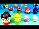 McDONALD'S TEEN TITANS GO! HAPPY MEAL TOYS 2018 SONIC DRIVE-IN TTG FULL SET 8 CARTOON NETWORK UNBOX