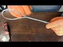 Завязать трос в петлю Разорвем для проверки прочности