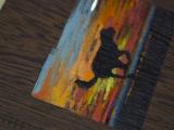 MiroFamily Блокнот с гравировкой и росписью художником по вашему фото