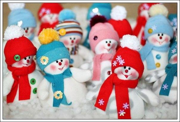 Снеговички своими руками. Выкройка (6 фото) - картинка