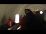 Болельщики в метро. 7.07. Площадь революции после игры Россия-Хорватия