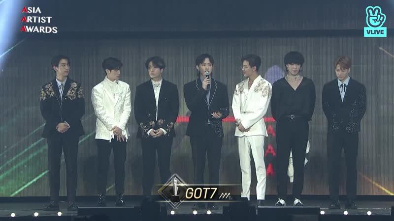 181128 Best Popular Award Music (베스트 파퓰러 가수 부문) - GOT7 (갓세븐)
