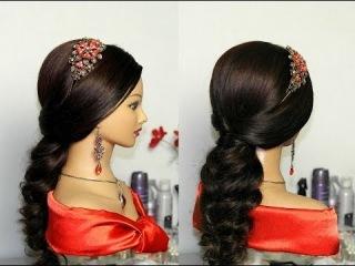 Прическа на Новый год на длинные волосы (видео мастер-класс) [uroki-online.com]