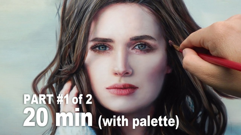OIL PAINTING PORTRAIT DEMO ✦ REALISTIC ART VIDEO ✦ Cool colors / cozy woman by Isabelle Richard