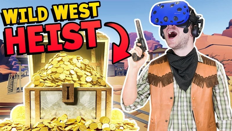 MULTIPLAYER WILD WEST COWBOY BANK HEIST IN VR WITH FYNNPIRE Westard Westward VR Gameplay Part 1