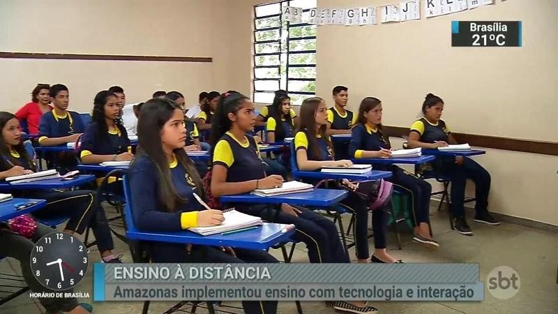 Um das propostas de Jair Bolsonaro para a educação é ampliar o ensino à distância | SBT Brasil