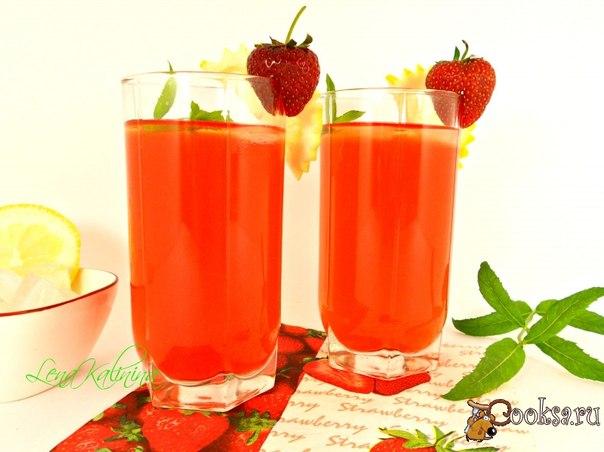 Клубничный лимонад Необыкновенно вкусный, ароматный напиток. Отлично утоляет жажду в летнюю жару.