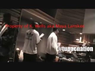 Tupac - when mexicans cry (редкое видео со студии)