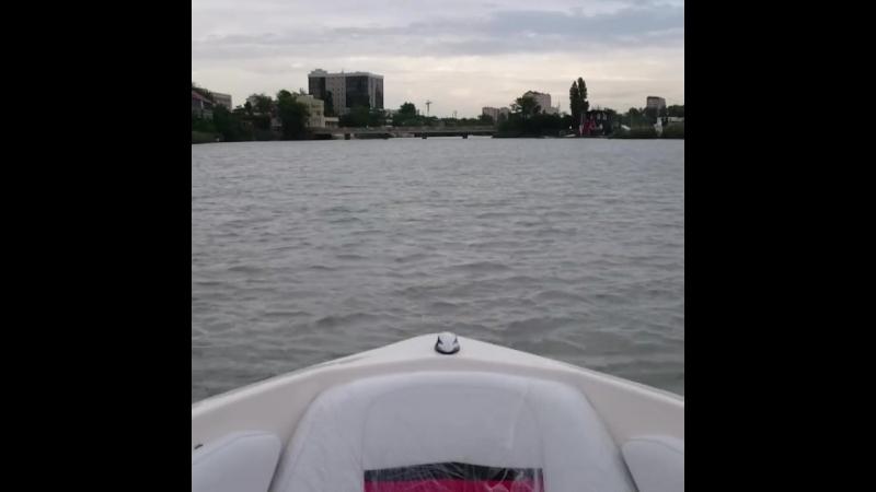первый спуск катера на Солнечный остров!