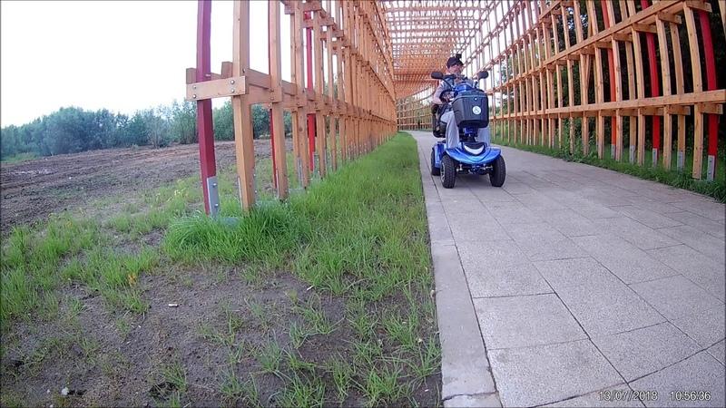 Мой район и новый парк, часть 1/1. Скутеры для инвалидов. Mobility scooter
