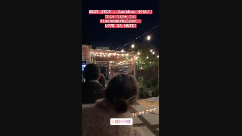 Instagram Stories Оливера Тревена, друга Йена