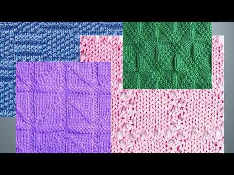 Узоры КВАДРАТЫ - КЛЕТКИ- 2 спицами со схемами Diy Knitting Knitted