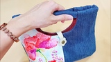 Upcycle old jeans into a bag Creative Recycling Recycling ideas from old clothes#HandyMum