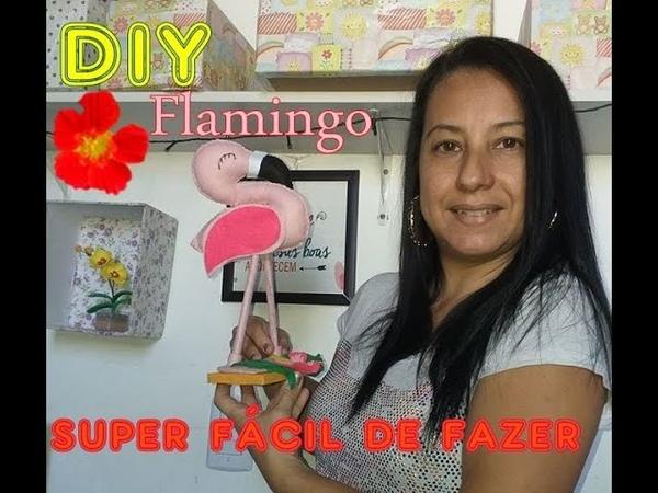 Como fazer flamingo de feltro-super facil