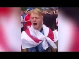 England fans ask for trouble as they urinate on a Russian flag
