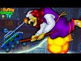 Новое видео для детей игра как мультики машинки АТАКА БАБЫ ЯГИ тачки гонки игра D...