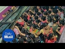 Footage shows sheer nightmare for commuters in Mumbai's rush hour