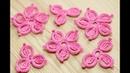 Вязание простого ЦВЕТКА для ирландского кружева how to crochet a flower