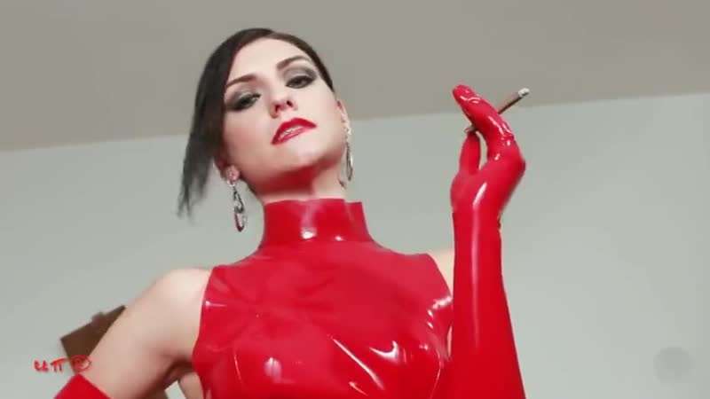 Red Latex Smoking Mistress