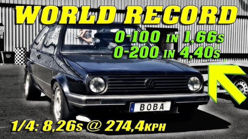 QUICKEST GOLF ON EARTH | Boba´s 1233HP Golf vs Santa Pod Raceway | New World Record!