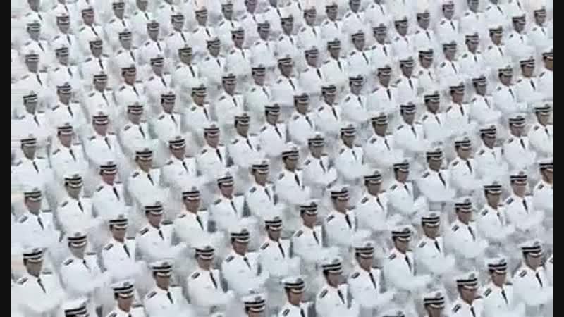 Синхронность китайцев на военном параде
