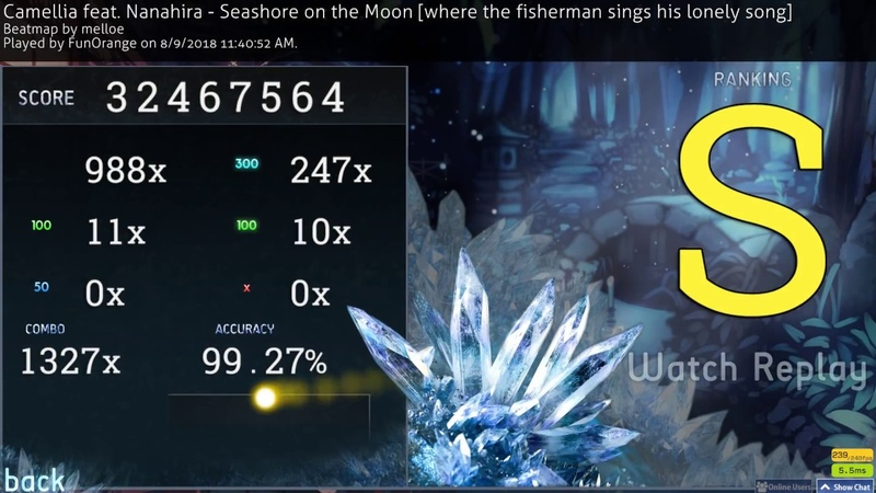 Osu! | FunOrange | Camellia feat. Nanahira - Seashore on the Moon [the fisherman sings] 99.27% FC 1